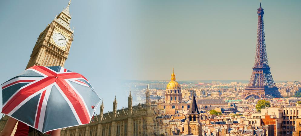 Inglês em Londres + Viagem à Paris